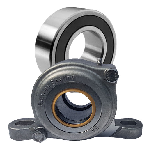 The latest generation of Extreme Bearing units are designed for a single row spherical roller bearing insert.