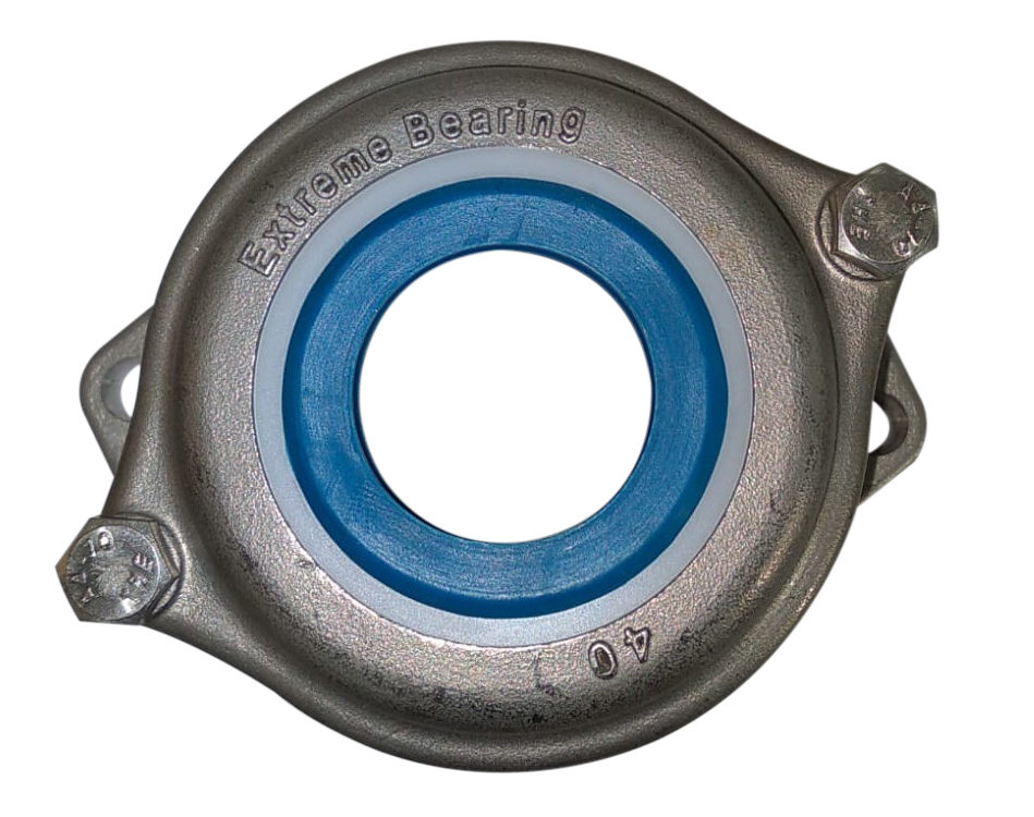 Stainless steel oval flange bearing units