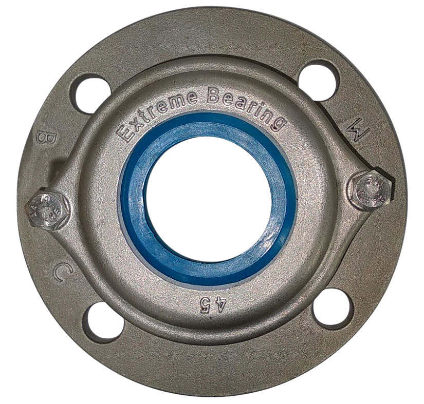 Round Stainless steel Four-Bolt Heavy Duty Flange Bearing Unit