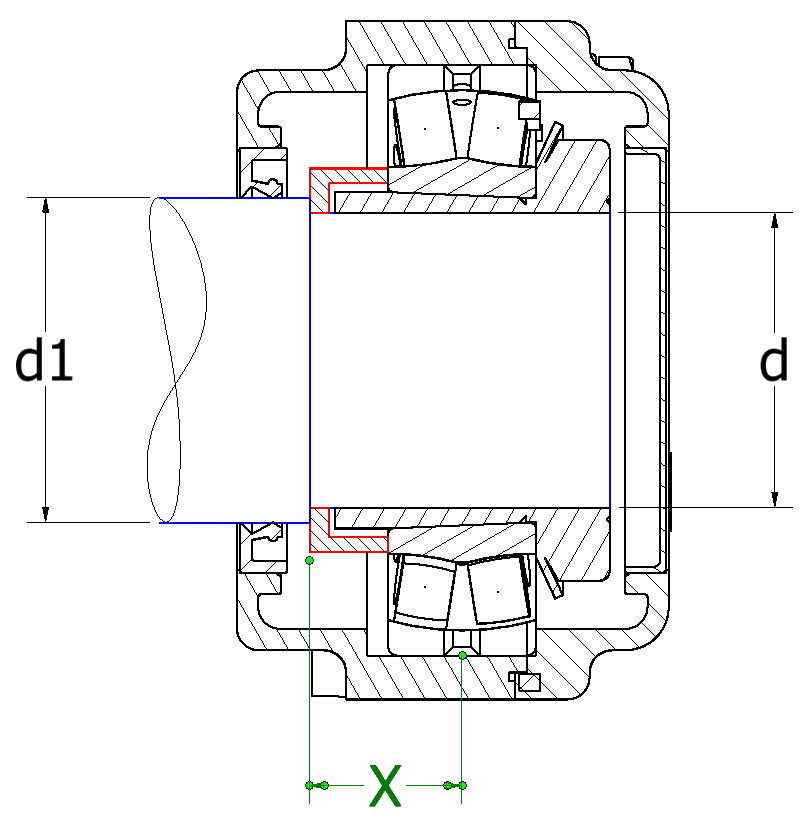 Stainless steel flange bearing with axial load carrying capacity