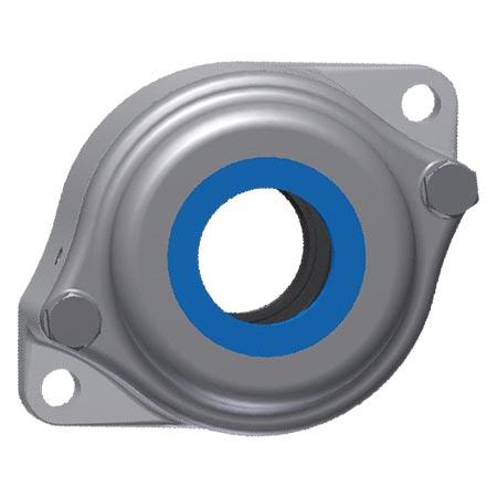EXR compact 2-bolt round flange bearing units