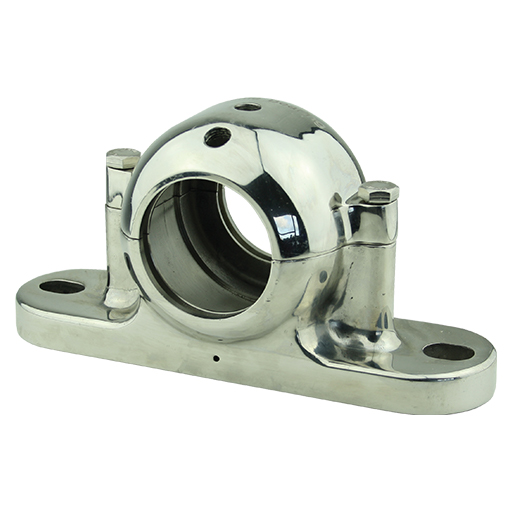 High polished Plumber block food safe stainless steel 316